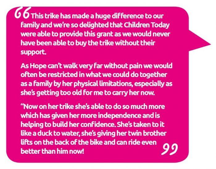 Hope's mum Claire quote