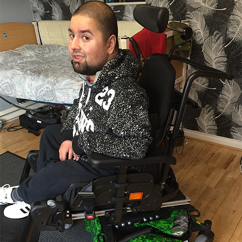 Ismail's new powered wheelchair