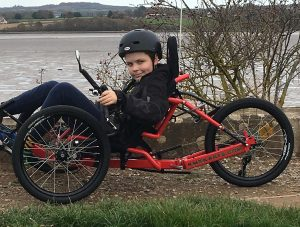 Jimmy on his adapted trike