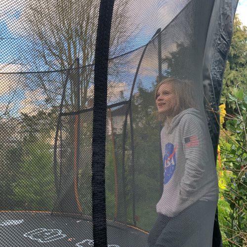 Orlando on his trampoline