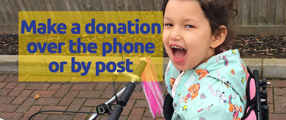 Make a donation over the phone or by post