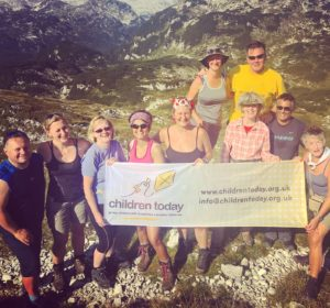 Graham on an International Charity Trek for Children Today