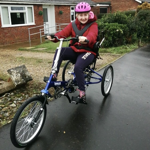 Brooke says she won't be able to stop smiling when she gets her trike