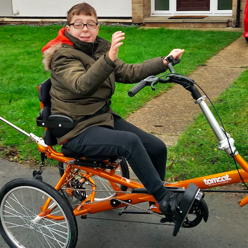 Harley, who has severe learning difficulties, was awarded a grant from Children Today for his adapted trike and the remaining funds were raised through a local appeal