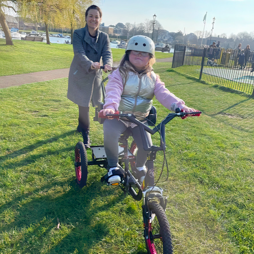 Chloe's specialised trike, which is set to last her a lifetime, has benefitted not just Chloe's but Nichola's mental health too.