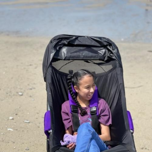Since receiving the buggy, a world of opportunities has been opened up for Neave and her family.