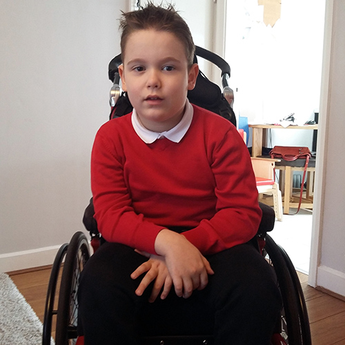 Domini in his new Kudu manual wheelchair