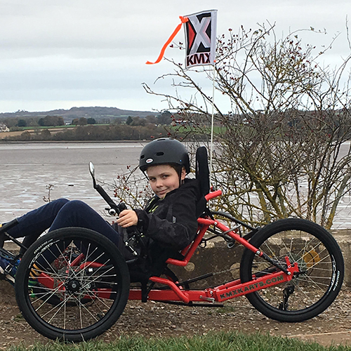 Jimmy and his adapted trike